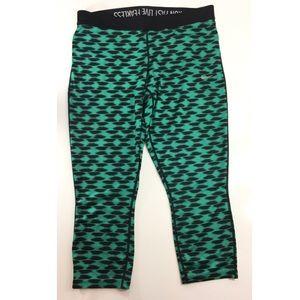 Nike Dry Fit Green & Black Cheeta Print Legging